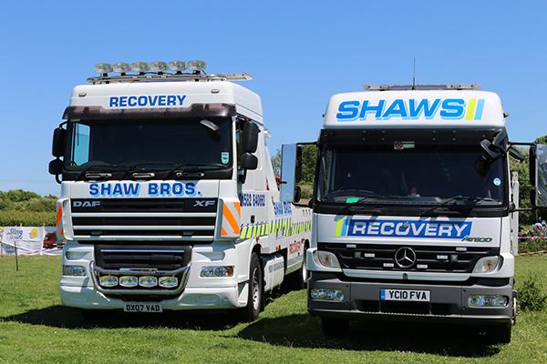 SHAW RECOVERY DX07 VAD DUNSTABLE TRUCK CONVOY TRUCK SHOW BILLINGTON 10.6.17